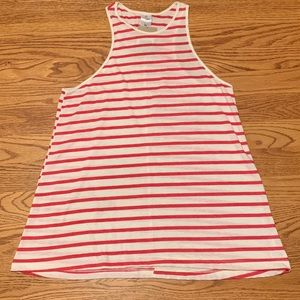 Red and white striped tank top
